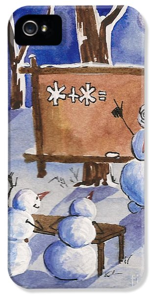 Hanukkah Card iPhone 5 Cases - Snowman University iPhone 5 Case by Margaryta Yermolayeva
