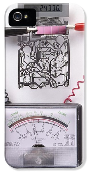 Solar Cell Inside A Calculator IPhone 5 / 5s Case by Dorling Kindersley/uig