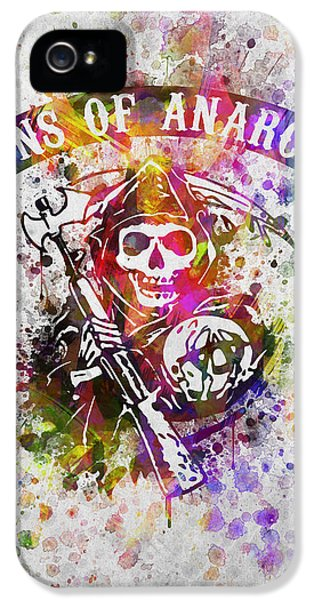 Grim Reaper iPhone 5 Cases - Sons of Anarchy in Color iPhone 5 Case by Aged Pixel