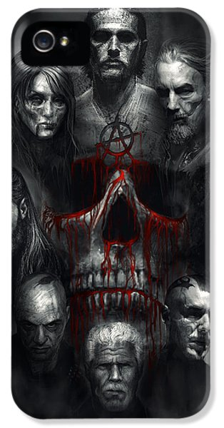 Skulls iPhone 5 Cases - Sons of Anarchy Tribute iPhone 5 Case by Alex Ruiz