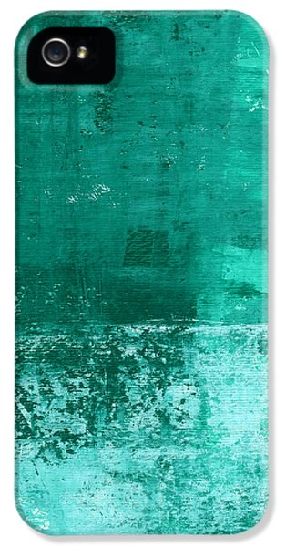 Turquoise iPhone 5 Cases - Soothing Sea - Abstract painting iPhone 5 Case by Linda Woods