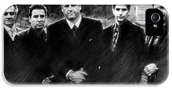 James Gandolfini iPhone 5 Cases - Sopranos James Gandolfini iPhone 5 Case by Viola El