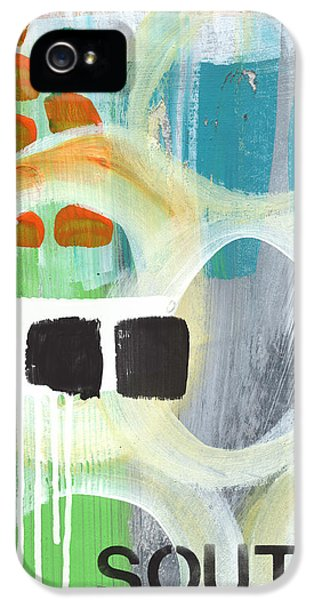 House Art iPhone 5 Cases - South- abstract expressionist art iPhone 5 Case by Linda Woods