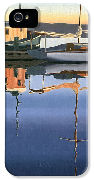 Ship iPhone 5 Cases - South harbour reflections iPhone 5 Case by Gary Giacomelli