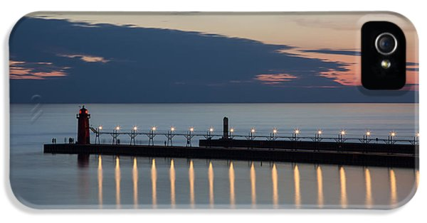 Harbor iPhone 5 Cases - South Haven Michigan Lighthouse iPhone 5 Case by Adam Romanowicz