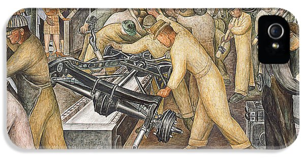 South Wall Of A Mural Depicting Detroit Industry IPhone 5 / 5s Case by Diego Rivera