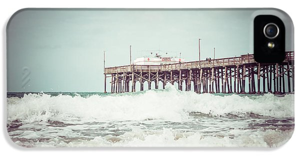 Newport iPhone 5 Cases - Southern California Pier Vintage 1950s Picture iPhone 5 Case by Paul Velgos