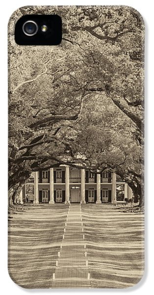 Historic Oak iPhone 5 Cases - Southern Time Travel sepia iPhone 5 Case by Steve Harrington
