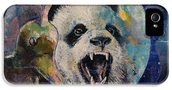 Sci Fi Art iPhone 5 Cases - Space Panda iPhone 5 Case by Michael Creese