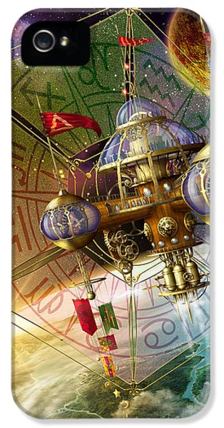 Spaceships iPhone 5 Cases - Space Station iPhone 5 Case by Ciro Marchetti