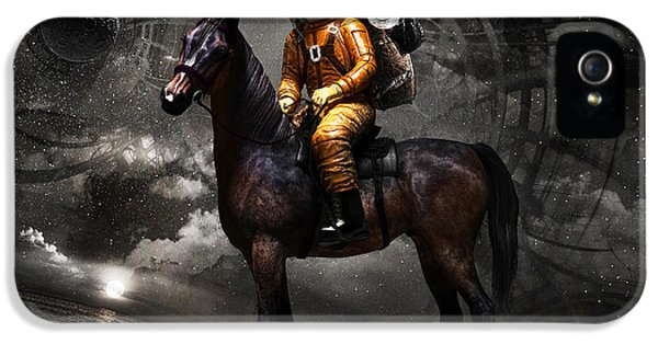 Suit iPhone 5 Cases - Space tourist iPhone 5 Case by Vitaliy Gladkiy