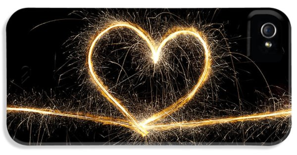 Firework iPhone 5 Cases - Spark of Love iPhone 5 Case by Tim Gainey
