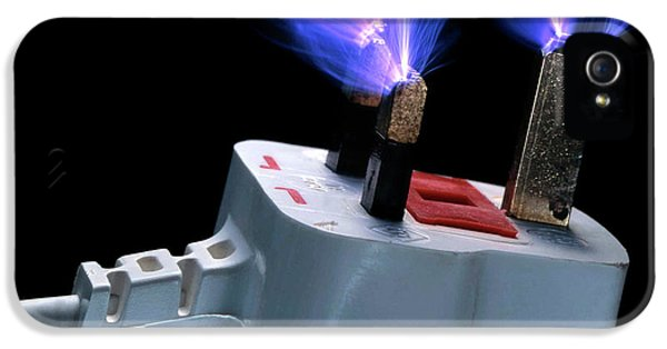 Sparks Flying From Plug IPhone 5 / 5s Case by Adam Hart-davis