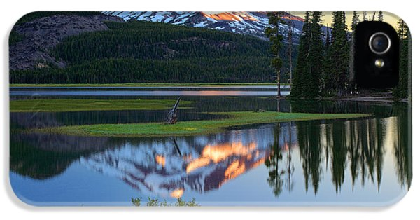 Reflective iPhone 5 Cases - Sparks Lake Sunrise iPhone 5 Case by Inge Johnsson