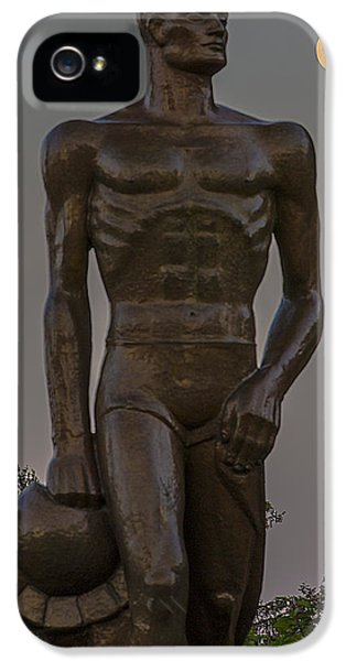 Sparty And Moon IPhone 5 / 5s Case by John McGraw