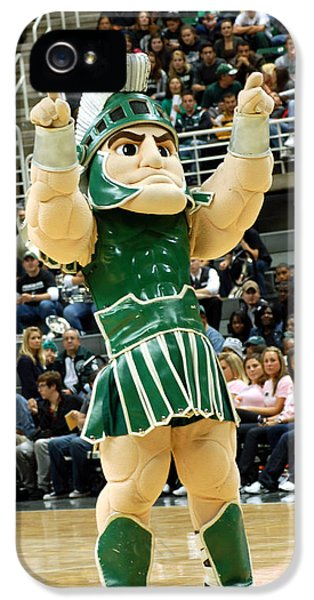 Sparty At Basketball Game  IPhone 5 / 5s Case by John McGraw