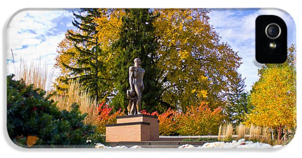 Sparty In Autumn  IPhone 5 / 5s Case by John McGraw