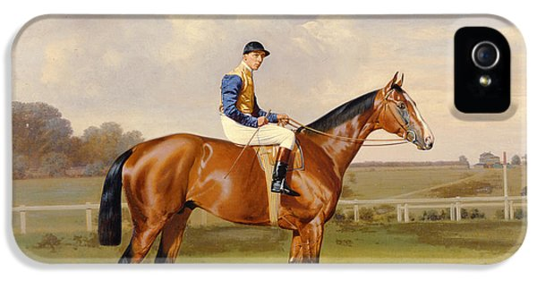 Riding iPhone 5 Cases - Spearmint Winner of the 1906 Derby iPhone 5 Case by Emil Adam