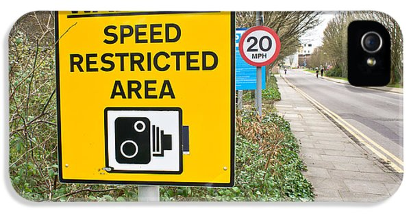 20 iPhone 5 Cases - Speed warning iPhone 5 Case by Tom Gowanlock