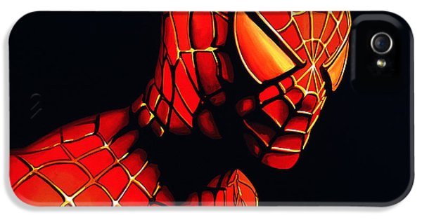 Spider iPhone 5 Cases - Spider-Man iPhone 5 Case by Paul Meijering