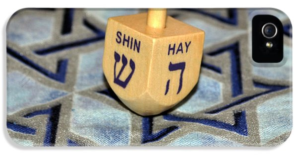 Dreidel Card iPhone 5 Cases - Spin little Dreidel iPhone 5 Case by Roger Reeves  and Terrie Heslop