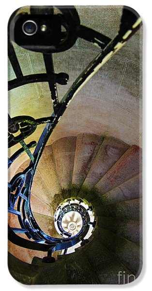 Ladder iPhone 5 Cases - Spinning Stairway iPhone 5 Case by Carlos Caetano