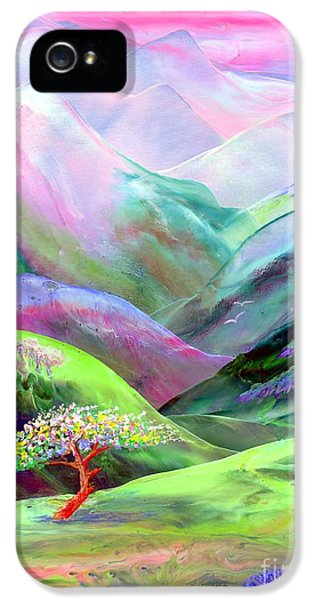 Glowing iPhone 5 Cases - Spirit of Spring iPhone 5 Case by Jane Small