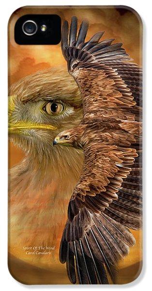 Eagle iPhone 5 Cases - Spirit Of The Wind iPhone 5 Case by Carol Cavalaris