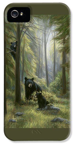 Cubs iPhone 5 Cases - Spirits of the Forest iPhone 5 Case by Lucie Bilodeau