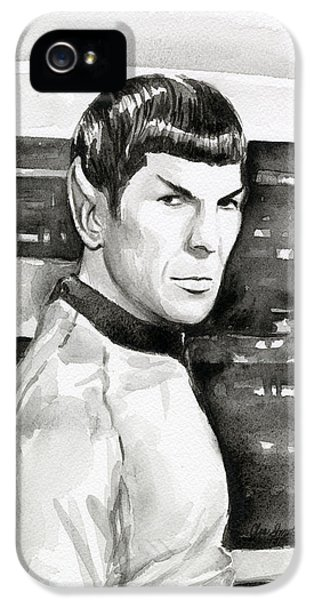 Sci Fi Art iPhone 5 Cases - Spock iPhone 5 Case by Olga Shvartsur