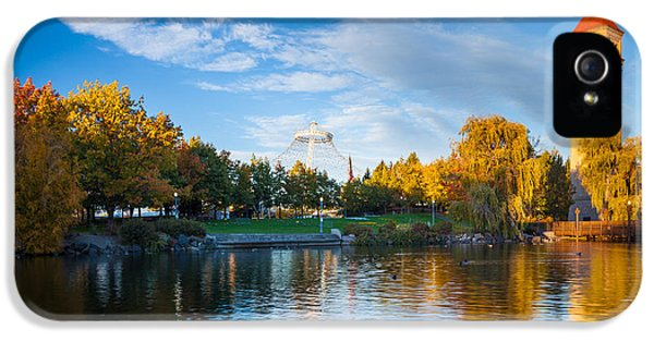 Reflective iPhone 5 Cases - Spokane Reflections iPhone 5 Case by Inge Johnsson