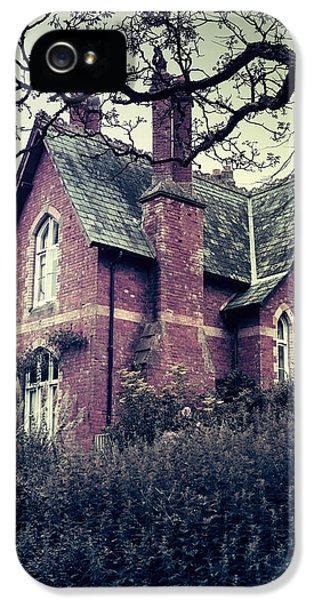 Spooky iPhone 5 Cases - Spooky House iPhone 5 Case by Joana Kruse