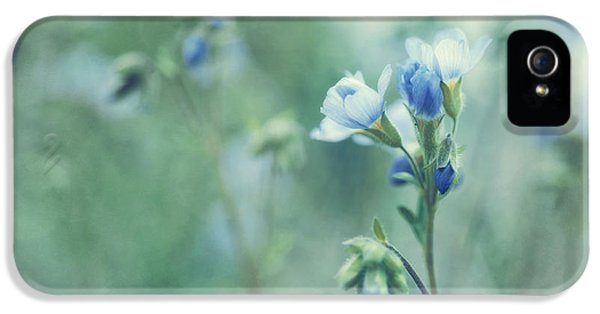 Landscape Format iPhone 5 Cases - Spring Blues iPhone 5 Case by Priska Wettstein