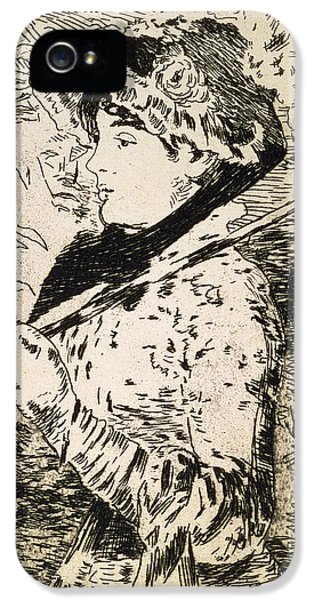 Female iPhone 5 Cases - Spring   Jeanne iPhone 5 Case by Edouard Manet