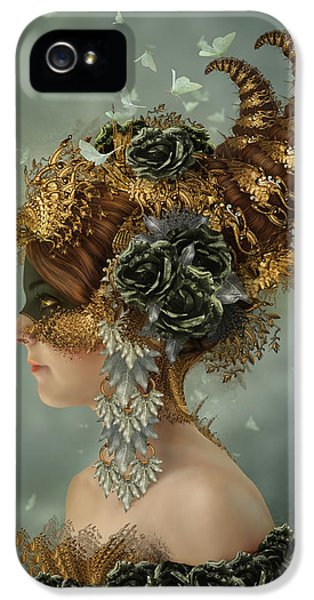 Masquerade iPhone 5 Cases - Spring Masquerade iPhone 5 Case by Cassiopeia Art