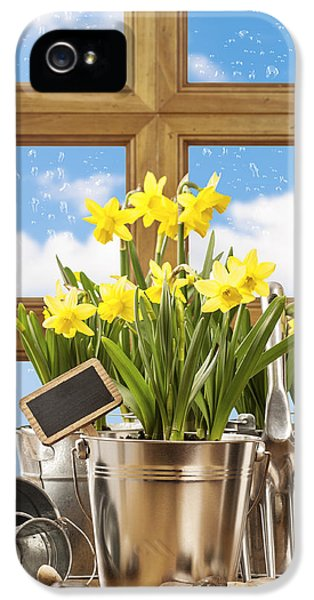 Potting Shed iPhone 5 Cases - Spring Window iPhone 5 Case by Amanda And Christopher Elwell