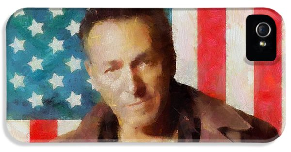 Born To Run iPhone 5 Cases - Springsteen American Icon iPhone 5 Case by Dan Sproul