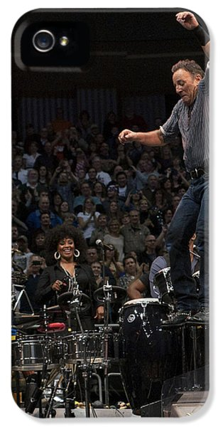 Jeff Ross iPhone 5 Cases - Springsteen in Motion iPhone 5 Case by Jeff Ross