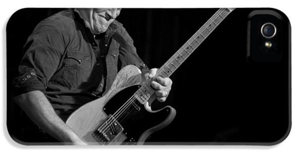 Jeff Ross iPhone 5 Cases - Springsteen Shreds BW iPhone 5 Case by Jeff Ross