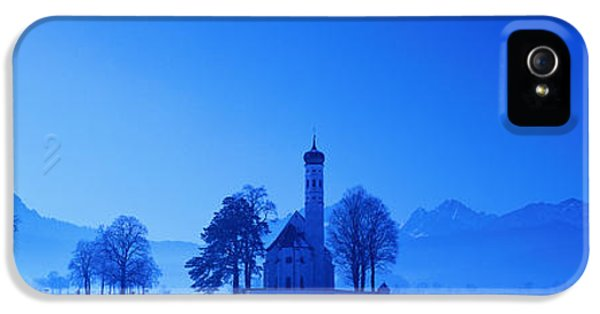 Sillouette iPhone 5 Cases - St. Coloman Church Schwangau Germany iPhone 5 Case by Panoramic Images