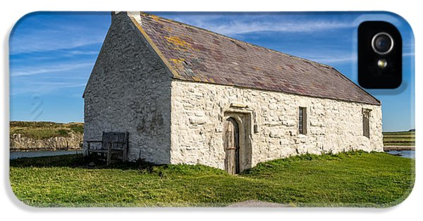 Cemetary iPhone 5 Cases - St Cwyfan Church iPhone 5 Case by Adrian Evans