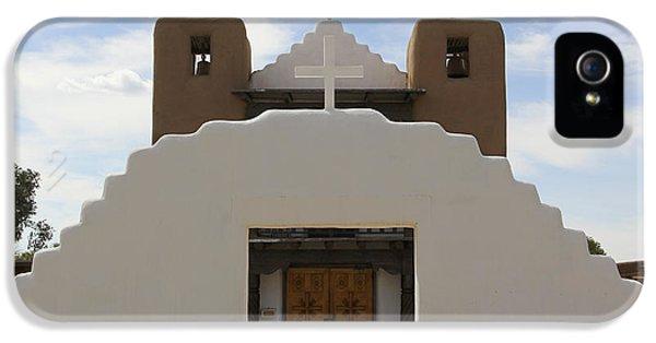 Pueblo iPhone 5 Cases - St. Jerome Chapel - Taos Pueblo iPhone 5 Case by Mike McGlothlen