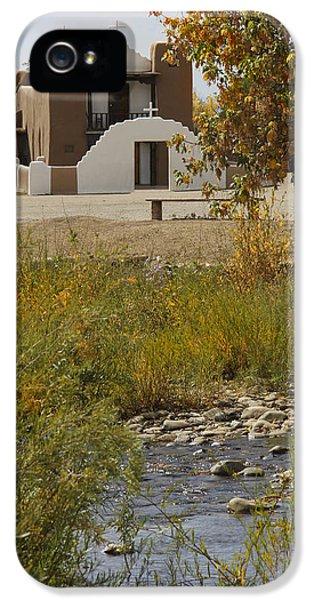 Pueblo iPhone 5 Cases - St. Jerome - Taos Pueblo iPhone 5 Case by Mike McGlothlen