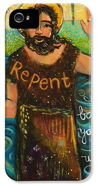 Baptism iPhone 5 Cases - St. John the Baptist iPhone 5 Case by Jen Norton