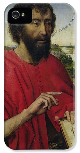 St John The Baptist, Left Hand Panel Of The Triptych Of The Braque Family IPhone 5 / 5s Case by Rogier van der Weyden