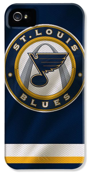 St Louis Blues Uniform IPhone 5 / 5s Case by Joe Hamilton
