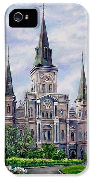 City Scene iPhone 5 Cases - St. Louis Cathedral iPhone 5 Case by Dianne Parks