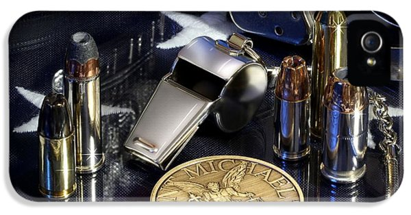 Equipment iPhone 5 Cases - St Michael Law Enforcement iPhone 5 Case by Gary Yost