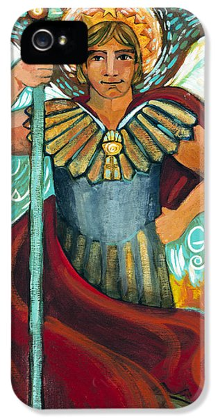 Archangel iPhone 5 Cases - St. Michael the Archangel iPhone 5 Case by Jen Norton