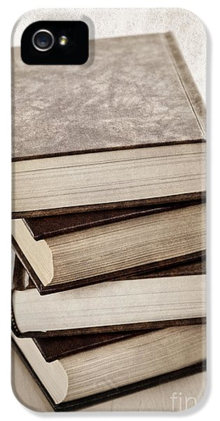 Book iPhone 5 Cases - Stack of books iPhone 5 Case by Elena Elisseeva